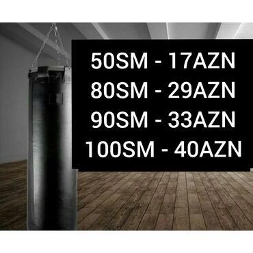 Боксерские груши - Азербайджан: Boks kisəsi 50SM - 17AZN 80SM - 29AZN - 90SM - 33AZN 100 SM - 40AZN