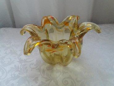 Декор для дома - Лебединовка: Конфетница. Цветное стекло. Советская. Скоморох