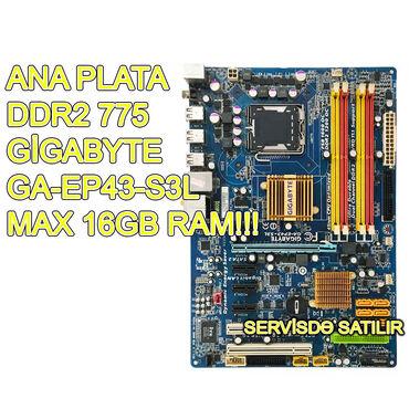 Ana Plata Gigabyte GA EP43 S3L İşlənmiş! Qiymət - 45 AZN, SONDUR!