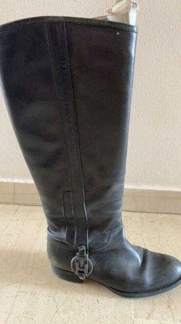 Μπότες αυθεντικές Tommy Hilfiger με αγκράφα με το σήμα της εταιρείας