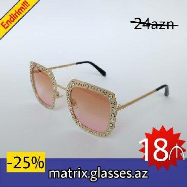 Matrix.glasses.az -dan kompaniya gün eynəklərinə endirim Şəkildə