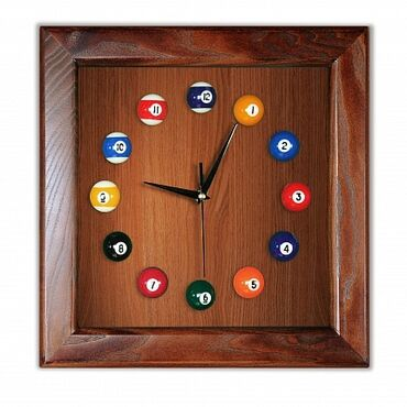 """Бильярдные столы - Кыргызстан: Часы """"Квадрат"""" ясень/шпон, лак Super DDБильярдные часы - это не только"""