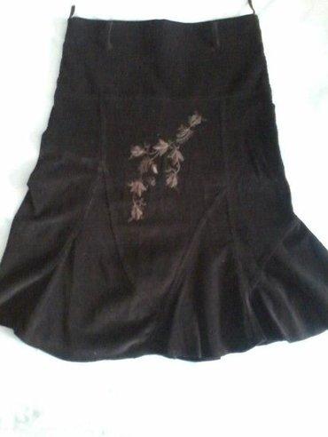 Braon suknja od somota. Nijednom nije nosena. Vel. 36 - Majdanpek