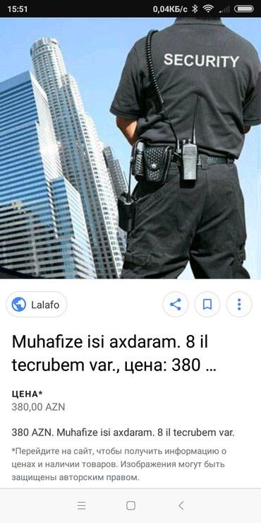Bakı şəhərində Muhafzeci bey teleb olunur zabeada yerlesen fabrike