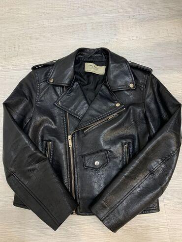 Кожаная куртка Эко-кожа (очень качественная), состояние отличное