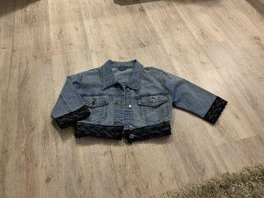 Kratka teksas jaknica S velicine sa crnim cipkastim detaljima, bas