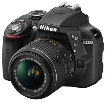 Продаю фотоаппарат nikon d3300 c объективом 18-55 в Бишкек