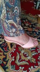 Papuce, nanule, na stiklicu, svetlo roze, broj 37, udobne, malo nosene - Nis - slika 3
