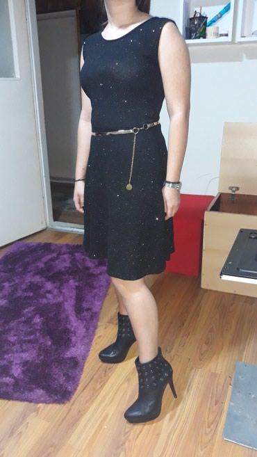 Zlatne-sandalice-perla-br - Srbija: Haljina od viskoze, crana zlatne sljokice
