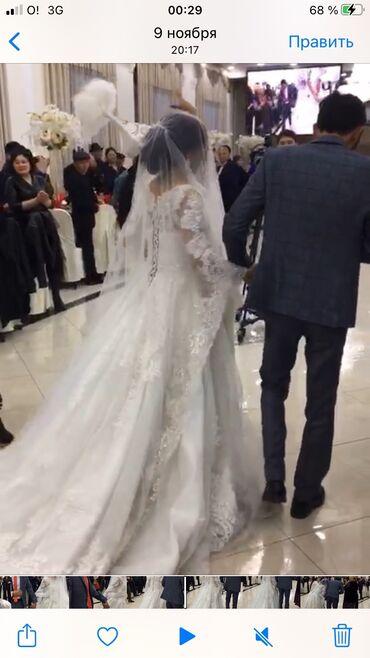 шикарные платья для полных в Кыргызстан: Сдаю шикарное свадебное платье на прокат удлиненная с зади тренд 2019-