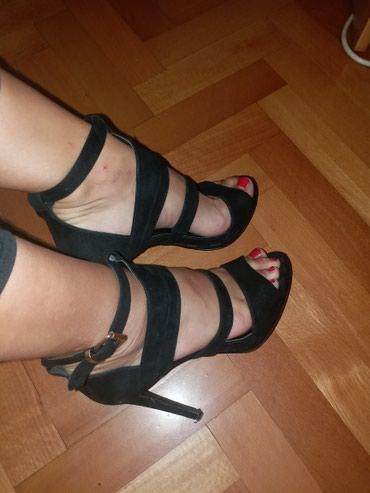 Crne sandale. 37 broj. Bez ostecenja, jednom nosene KAO NOVE - Kraljevo