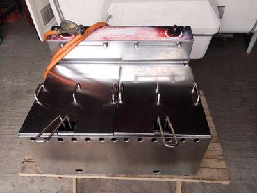 Kuća i bašta - Loznica: Friteza od inoxa na plin.kapacitet 12 litara u dve posude od po 6 lita