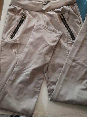 Zenske pantalo - Srbija: Pantalone zenske oba para vel. 38 m/l ne ostecene krem boje