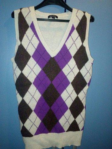 Prsluk pulover marke newyorker. topao,očuvan  širina 40cm, dužina 66cm - Beograd