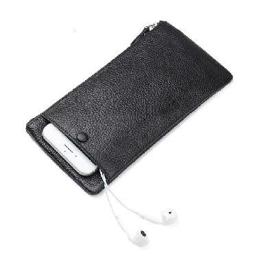 сумка-бу-кожа в Кыргызстан: Мужской кожаный кошелек с отделением для мобильного телефона +бесплатн