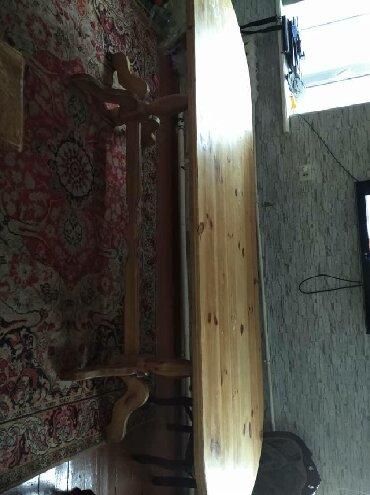 длинные платья с длинным рукавом в Кыргызстан: Продаю стол деревянный, арча, длинна 3 метра