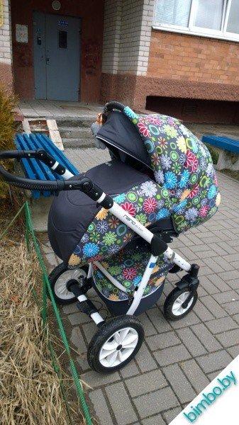 Детская коляска riko nano flower 2&1, в отличнейшем состоянии) в Бишкек
