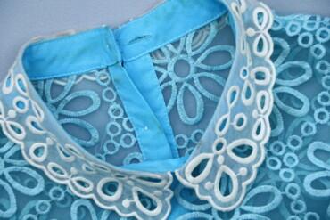 1537 объявлений: Жіноча прозора блузка з мереживним декором, р. М   Довжина: 57 см Напі
