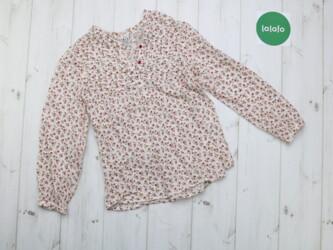 Блузка Zara Kids в цветочный принт для девочки 7-8 лет(128 см)    Дли