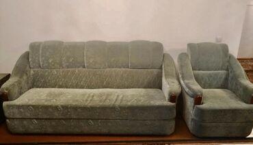 Диван 4 ка:диван+кресла2 шт.+мини диванчик.состояние отличное.цена