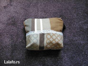 Tekstilna industrija - Srbija: Hand maded neseser. Materijal, pamučni tekstil i industrijska postava