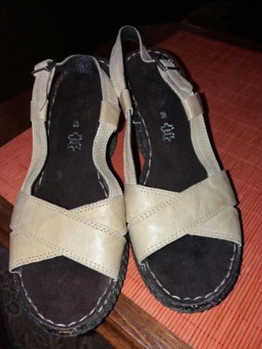Sandale kožne extra kvaliteta br.38.Dva puta obuvene.Bez ikakvih - Nis