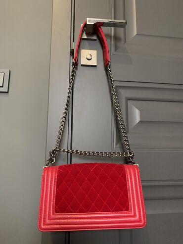 Срочно продам сумку красную качественная реплика Chanel  Состояние хор