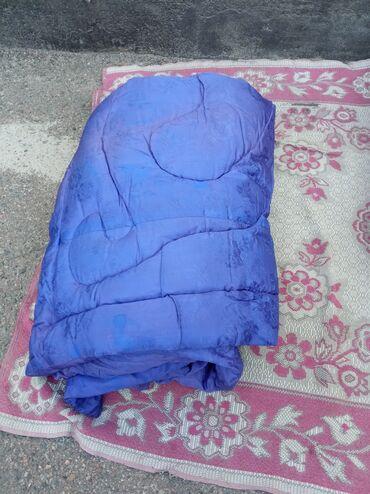 Синее пуховое одеяло полуторка 800 сомОдеяло ватное новое полуторка