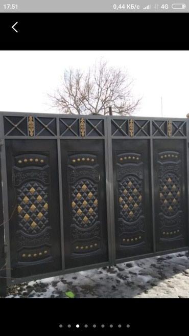 Покраска вароты двери перилы в Токмак