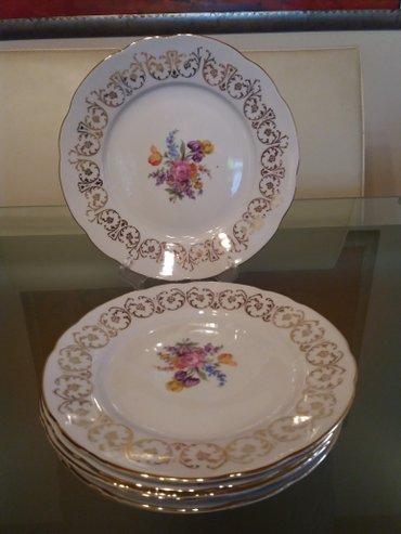 Komplet za kolace 1 veliki i 6 malih tanjira ceski porculan - Sombor