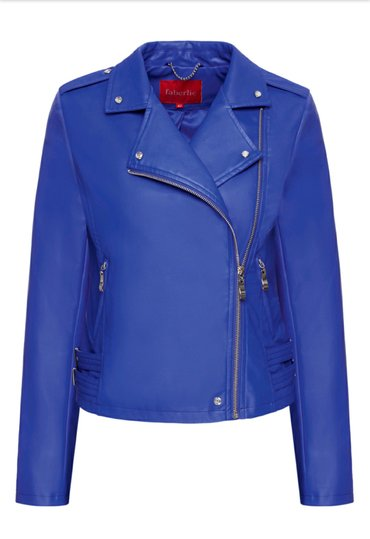 распродажа девушки в Кыргызстан: Стильная куртка из эко-кожи, цвет ярко-синий. размер 48 (не турецкий)