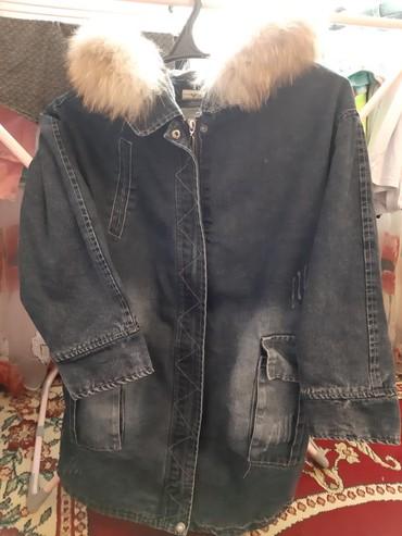 джинсовая куртка с мехом женская в Кыргызстан: Джинсовая парка куртка.Размер L .Отличном состоянии. Мех натуральный