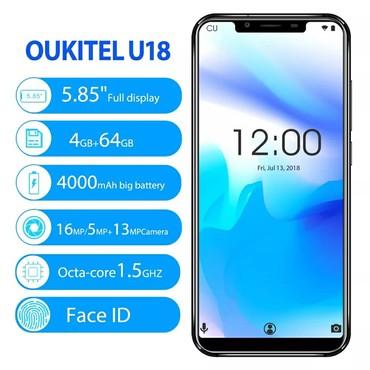 "OUKITEL U18 5.85 ""Tam Ekran Cep Telefonu MT6750T Octa Çekirdek 4G RAM"