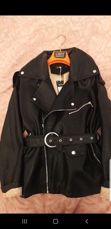s размер в Кыргызстан: Стильная весенняя кожаная куртка размер S-M (oversize )