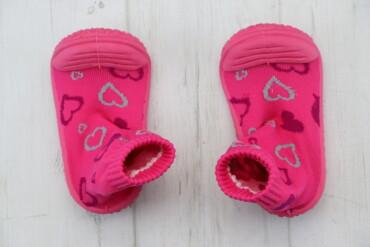 Дитячі протиковзаючі шкарпетки - черевички Chicco, р. 23    Довжина пі