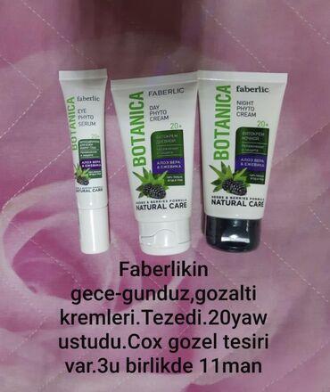baza kremleri - Azərbaycan: Faberlic gece-gunduz, goz alti kremleri, 3 birlikde 11 azn