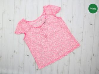 Яркая женская блузка в цветочек ATMOSPHERE,р.XS      Длина: 55 см Пог