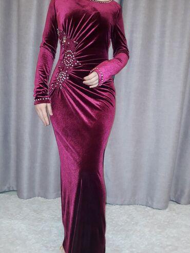велюровое платье миди в Кыргызстан: Шикарное платье в идеальном состоянии
