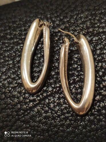 Серьги серебро италия новые .крупные.модные.легкие.смотрятся очень