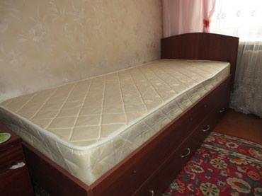 Односпальная кровать с матрасом в Бишкек