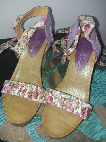 Prelepe sandale sa trakom za vezivanje uz nogu dva tri puta - Krusevac