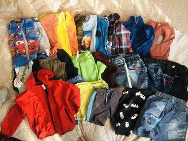 Продам пакетом одежду на мальчика 4-5лет все вещи чистые без пятен и