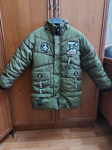 Зимняя куртка на мальчика 5-7 лет, теплая не маркая