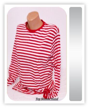 8.0. Crveno bela L majica ★TOP CENA19.9.✼Crveno bela ženska