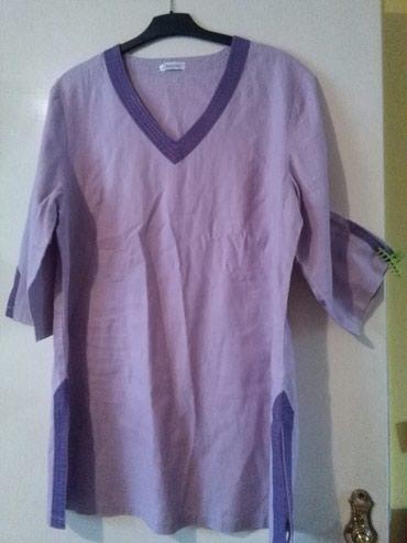 Tunika za krupnije dame od lana,prelepo stoji,nije nosena - Sombor - slika 8