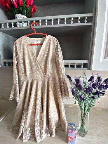 гипюр платье в Кыргызстан: Продаём нежное, гипюровое платье на выход.Бежевое и невероятно