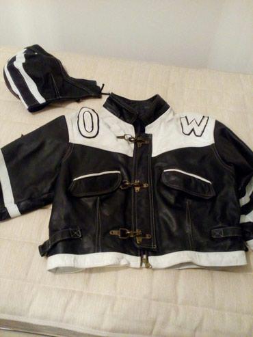 Kozna muska jakna od boksa, motorka, kupljena u Parizu. Malo nosena , - Belgrade