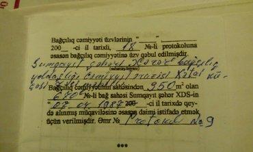 Bakı şəhərində Torpaq satilir