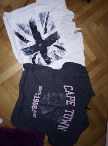 Nju-jorkeru - Srbija: Dve majice, obe s ali su sorioke, takav su fazon bez ostecenja, obe za