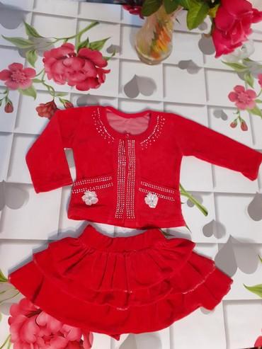 Вильветовый костюм от 1 до 3 лет в зависимости от ребёнка